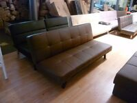 Ex display Atlanta Brown sofa bed 3 seater (free local delivery)