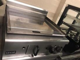 Commercial Lincat griddle grill catering restaurant takeaway gas chrome