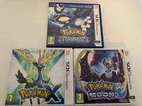 3 x Pokemon 3DS Games