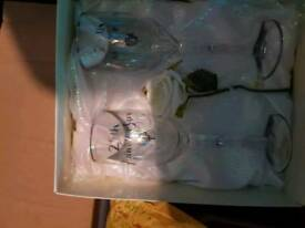 2 glasses and a plate for sale