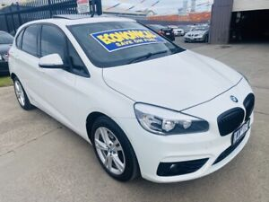 2015 BMW 218i F45 Active Tourer Sport Line Pearl White 6 Speed Automatic Wagon