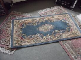3 Chinese Aubusson-Style 100% Wool Rugs