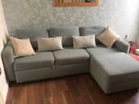 John Lewis corner sofa bed with storage