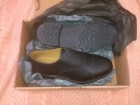 Black Leather Oxford Shoes Size 8