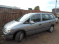 vauxhall zafira life 05 not been used for 17 months liscence rovoked and failed y last eyes test te