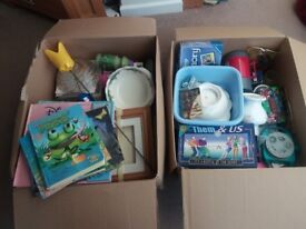 2 BOXES OF VARIOUS ITEMS, SUITABLE CAR BOOT
