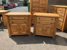New/Ex-display**Solid chunky oak sideboards