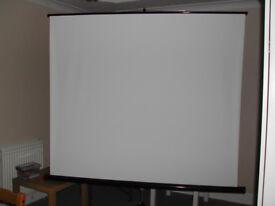 Projection Screen 180cm x 180cm Hama white like new