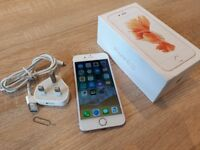 Apple iPhone 6s Rose Gold 16GB UNLOCKED in Very good condition