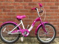 Girls bike. 20 inch wheels. Great condition.