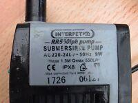 Interpet pump powerhead 9w 550lph for fish tank aquarium kop
