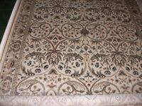 BEAUTIFUL JOHN LEWIS WALDEN BAROQUE RUG IVORY GREEN L224 cm x W160cm RRP £179.00 BRAND NEW
