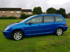 2004 PEUGEOT 307 S ESTATE 2.0 HDI DIESEL MOT CHEAP TAX SERVICE HISTORY ECONOMICAL