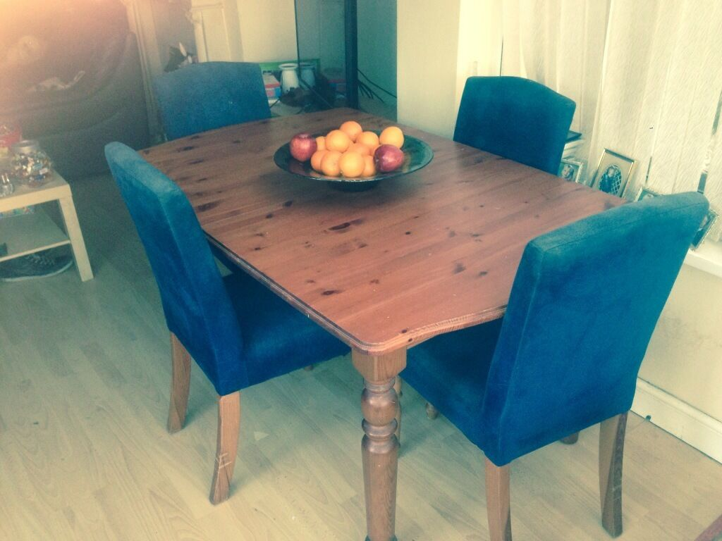 large extending dining table and 4 chairs united kingdom gumtree