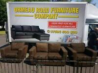 2+1+1 brown material sofa