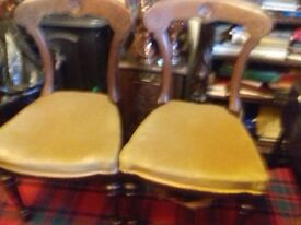 Antique dinning chairs x2