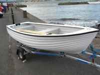 JURRA DINGHY BUILT BY HIGHLANDER BOATS COMPLETE WITH TOHATSU 3.5 HP OUTBOARD MOTOR