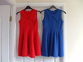 Dresses - red + blue