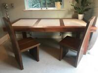 Beautiful teak table & 4 chairs for sale