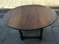 Small Oak Gateleg Side Table