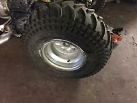 Quad bike wheels with tyres
