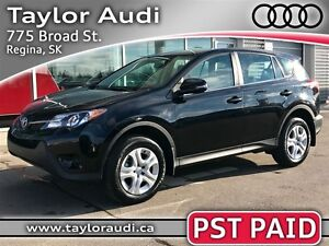 2014 Toyota RAV4 LE, 2.5L, AWD, PST PAID, GREAT ON GAS