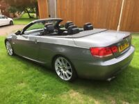 2009/09 BMW 330i M SPORT M3 CONVERTIBLE RARE FROZEN GREY AND 6 SPEED MANUAL 300BHP SWAP