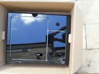 Kitchen Sink Aluminium Covered with Black Glass