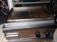 Electric Griddle, Lincat Silverlink 600 Half Ribbed Dual zone Electric Griddle