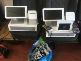 2x clover tills plus card readers