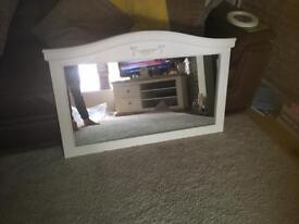 Cream mantel wall mirror