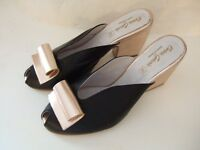 Ladies low heeled evening shoes - size 41 - NEVER WORN