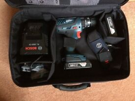 New/unused Bosch PSB 18-2-LI 18v cordless Combi drill - £95 or £85 with 2 batteries