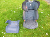 Lots of plant pots! High back car seat and a booster seat