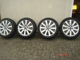 Set of 4, Ford 17 inch Alloy Wheels, 5 stud