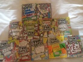 Collection of Tom Gates books by Liz Pichon