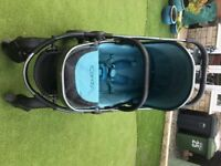 icandy peach 3. peacock space grey. maxi cosi car seat with adaptors.carrycot