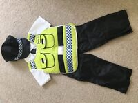 Child's police costume by Tu 3-4 yrs