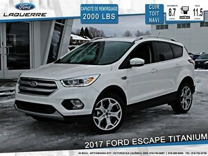2017 Ford Escape **TITANIUM*CUIR*TOIT*NAVI*CAMERA*CRUISE*A/C**