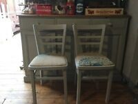 Shabby chic vintage dining chairs x2