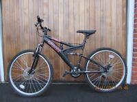 Boys mountain bike for age c 10 - 14, little used.