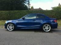 2010 BMW 1 Series Coupe 123d M-Sport 65K Le Mans Blue,twin turbo diesel