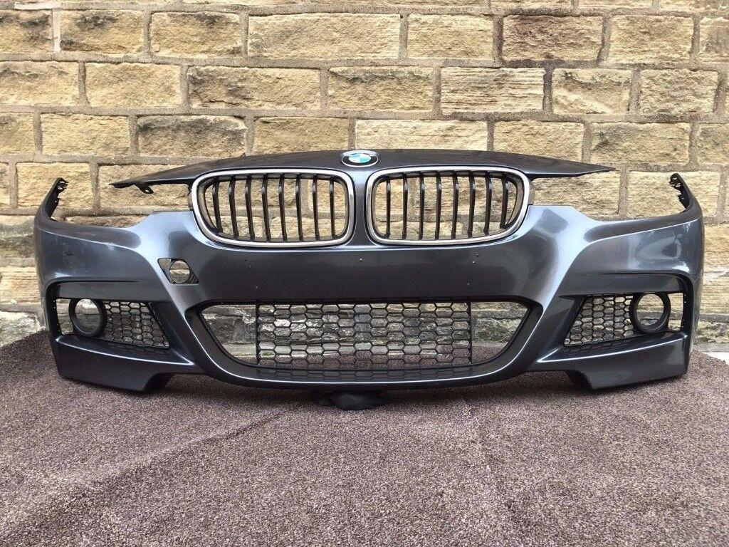 2015 BMW 3 SERIES F30 F31 M SPORT - FRONT BUMPER inc ALL GRILLS - Good Cond (4)