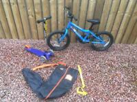 Kids Ridgeback MX16 bike & Micro Mini Scooter (rrp £265).