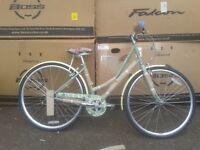 """NEW Elswick Ladies Women's Destiny 700C Heritage Bike 17"""" - Pea Green - RRP £325"""