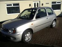NISSAN MICRA 1-0 S VIBE 16v 3-DOOR 2001 (51 PLATE) 66,000 MILES ONLY, LAST SERVICE AT 61,000 MILES.