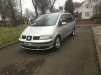 "2002 (52) SEAT ALHAMBRA SE 1.9 TDI 7 SEATER ""GREAT FAMILY MPV + DRIVES VERY GOOD + MUST BE SEEN"""