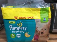 Pampers Baby Dry nappies size 6 (pack of 92)