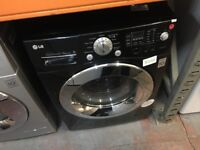 LG 9/6 KG BLACK WASHER DRYER RECONDITIONED