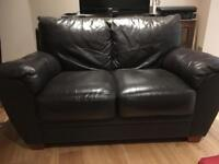 Two-seat leather sofa